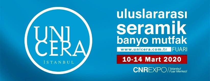 Unicera 2020 Seramik ve Banyo Fuarı Cnr Expo Fuar Merkezinde başlıyor
